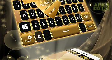 Neon gold go keyboard