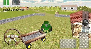 Transport cargo farm tractor