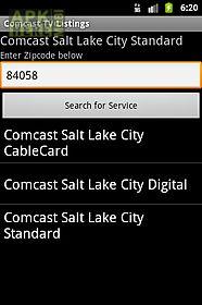 tv listings on comcast