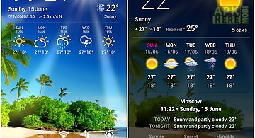 Weather forecast widget for Android free download at Apk Here store