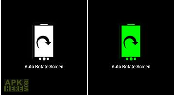 Screen rotation lock