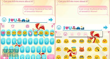 Candy love emoji keyboard skin