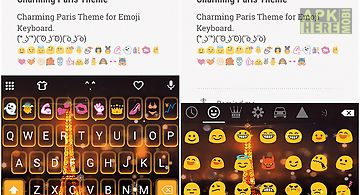 Charming paris emoji keyboard