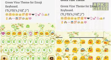 Green vine emoji keyboard skin