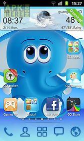 cool blue theme go launcher
