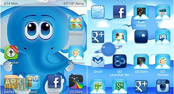 Cool blue theme go launcher