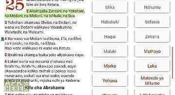 Biblia takatifu. swahili bible