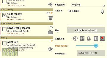 Task list - to do list widget