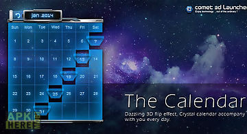 3d calendar-comet 3d launcher