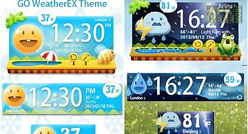 Cute garden go weather widget