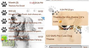 Cute dog theme for go sms pro
