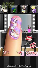 glitter nail salon: girls game