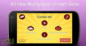 Cricket hit