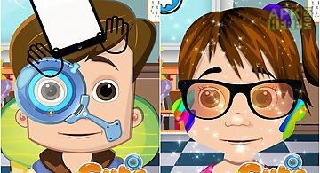 Cute kids eye clinic