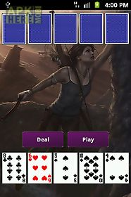tomb raider poker card game