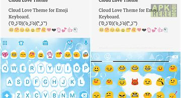 Cloud love emoji keyboard skin