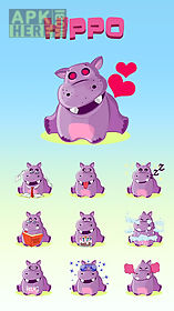 go keyboard hippo sticker