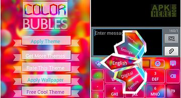 Go keyboard color bubble theme