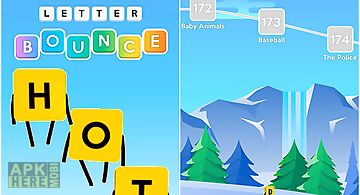 Letter bounce: word puzzles