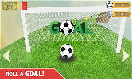 football soccer : goal roll