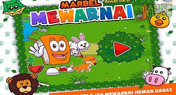 Marbel mewarnai hewan darat