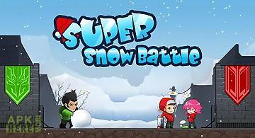 The frozen: super snow battle