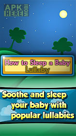 how to sleep a baby - lullaby