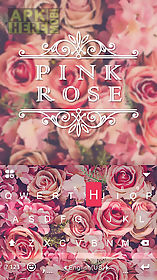 pink rose emoji kika keyboard