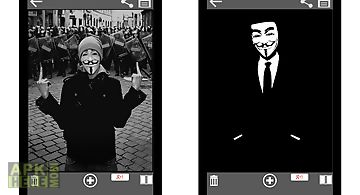Anonymous mask photo maker cam