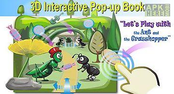 Ant&grasshopper:3d story book
