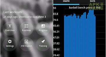 Bodybuilding workout log