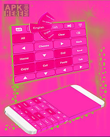 pink keyboard personalization