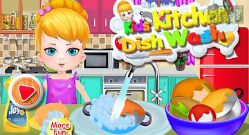 Wash dishes girls games