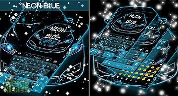 Neon blue cars go keyboard