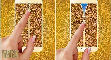 Glitter zipper phone lock