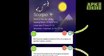 Lunar calendar - daily moon