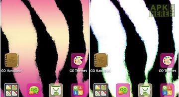 Pink zebra go launcher theme
