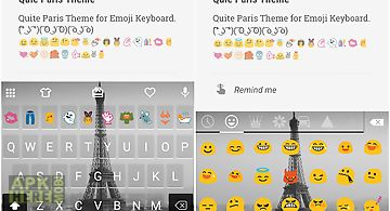 Quiet paris emoji keyboard