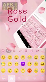 rose gold emoji kika keyboard