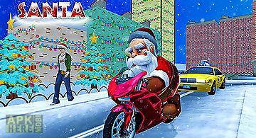 Crazy santa moto: gift delivery