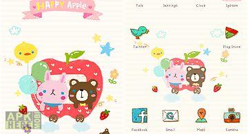 Happy apple go launcher theme