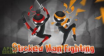 Sticked man fighting