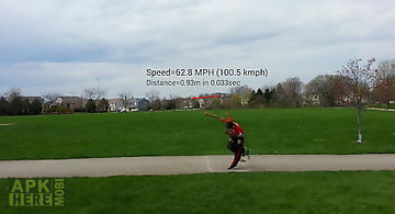 Ball speed radar gun baseball