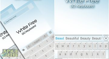 Gokeyboard crystal white theme