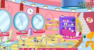 Clean up hair salon