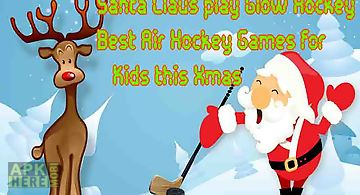 Santa claus play glow hockey - b..