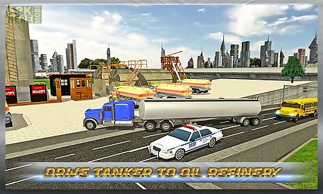 transport truck : oil tanker