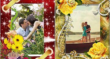 Flower romantic photo frames