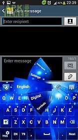 keyboard glow blue