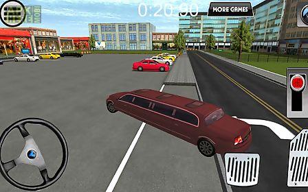 limousine city parking 3d